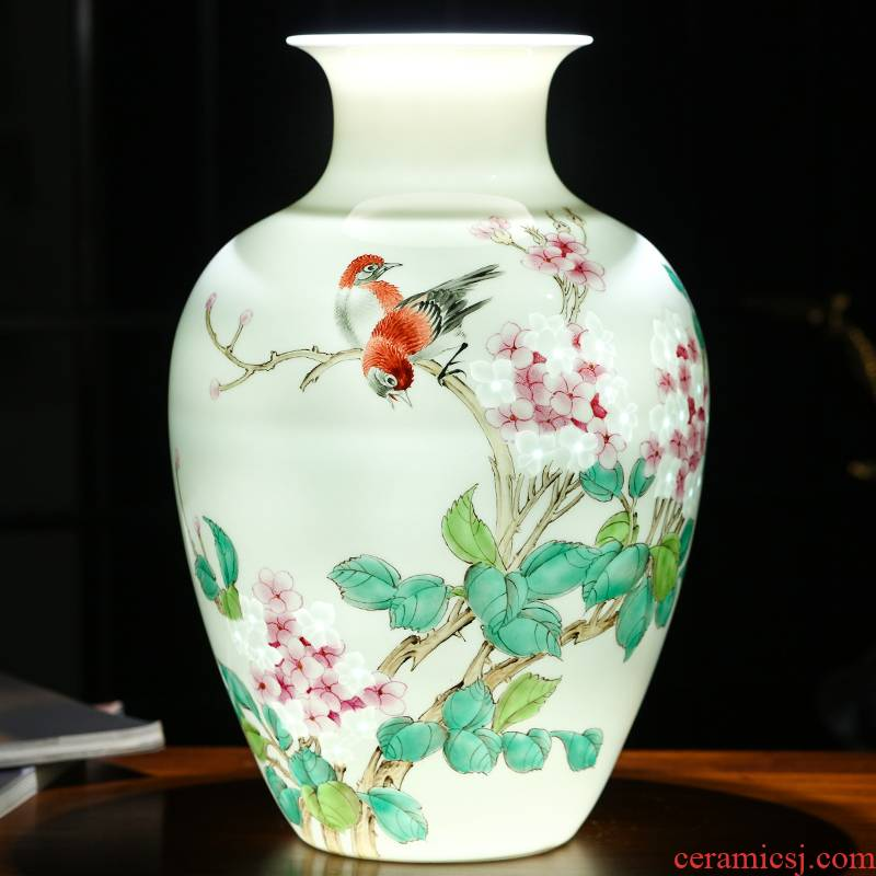 The Master of jingdezhen ceramics hand - made MeiKaiWuFu vases, flower arranging furnishing articles of Chinese wine home decoration