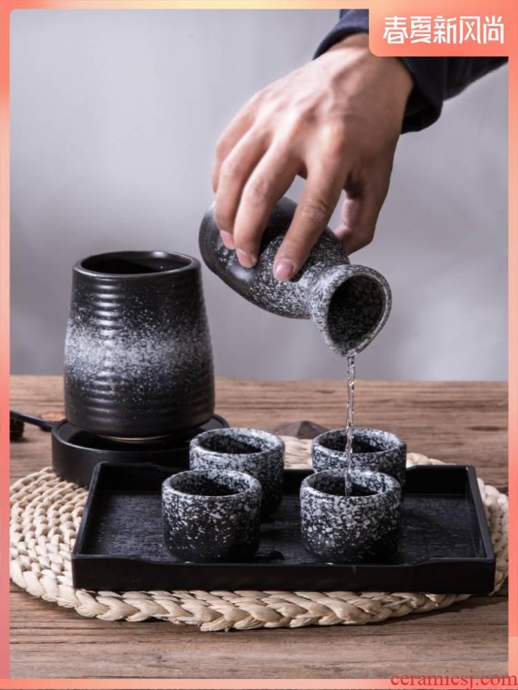Japanese ceramics wine glass decanters Japan suit rice wine liquor liquor cup wine bottle warmer temperature