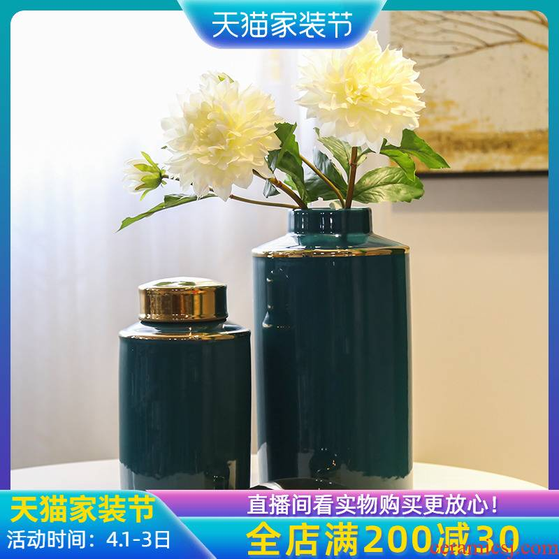 General porch mesa creative vase can of piggy bank flower implement furnishing articles jingdezhen new Chinese style flower decoration in the sitting room