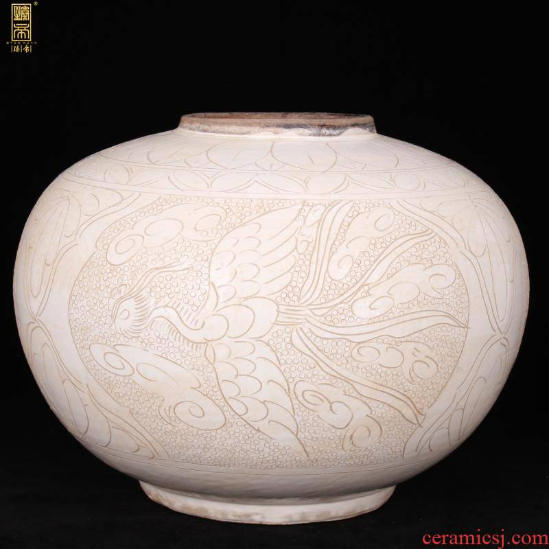 Magnetic state up jingdezhen imitation of the song dynasty carved phoenix design playing lanterns can of archaize antique antique ancient porcelain old furnishing articles