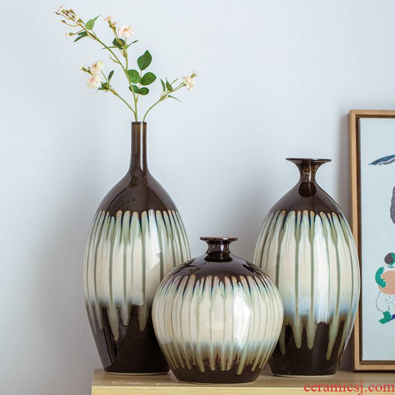 Jingdezhen ceramic simple Chinese style western - style Jane the vase mesa arranging flowers adorn article modern home furnishing articles