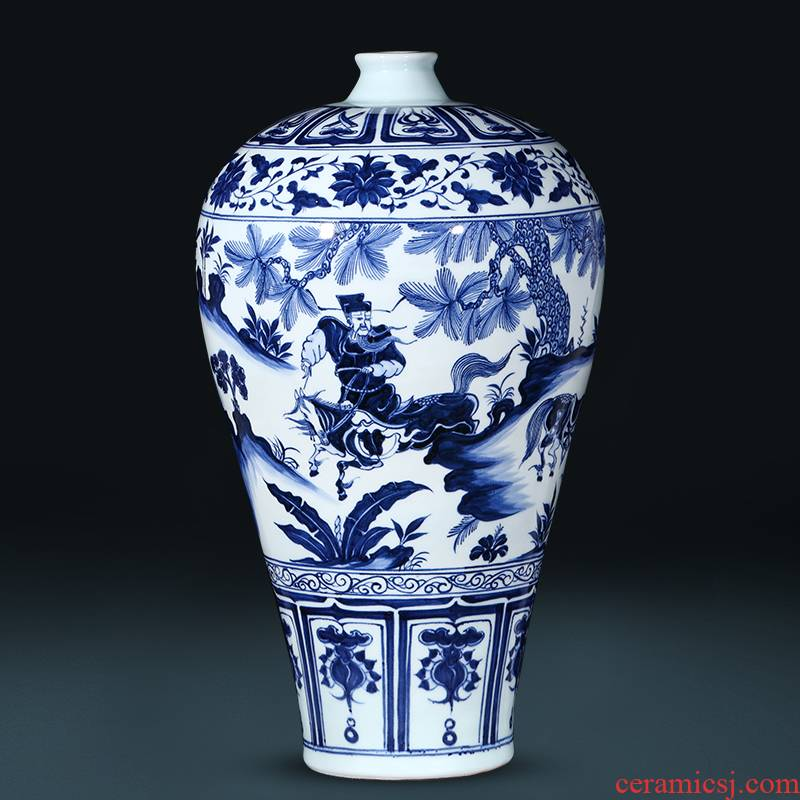 Jingdezhen ceramics under the imitation of yuan blue and white Xiao Heyue do old Chinese style restoring ancient ways is han xin vase decoration furnishing articles