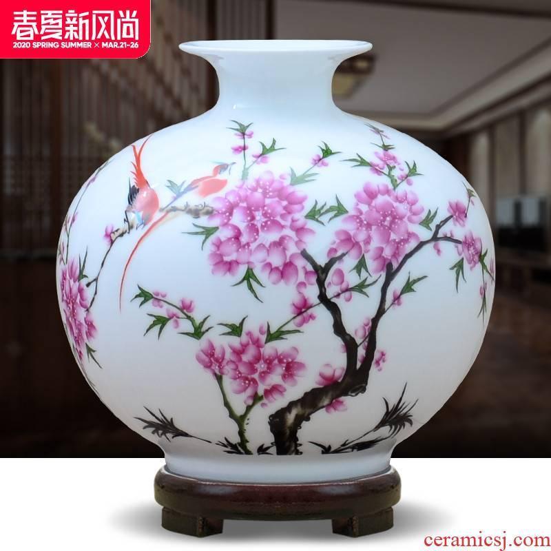 Creative I sitting room place jingdezhen ceramics pomegranate flower arranging small handicraft bottle vase TV ark, restaurant