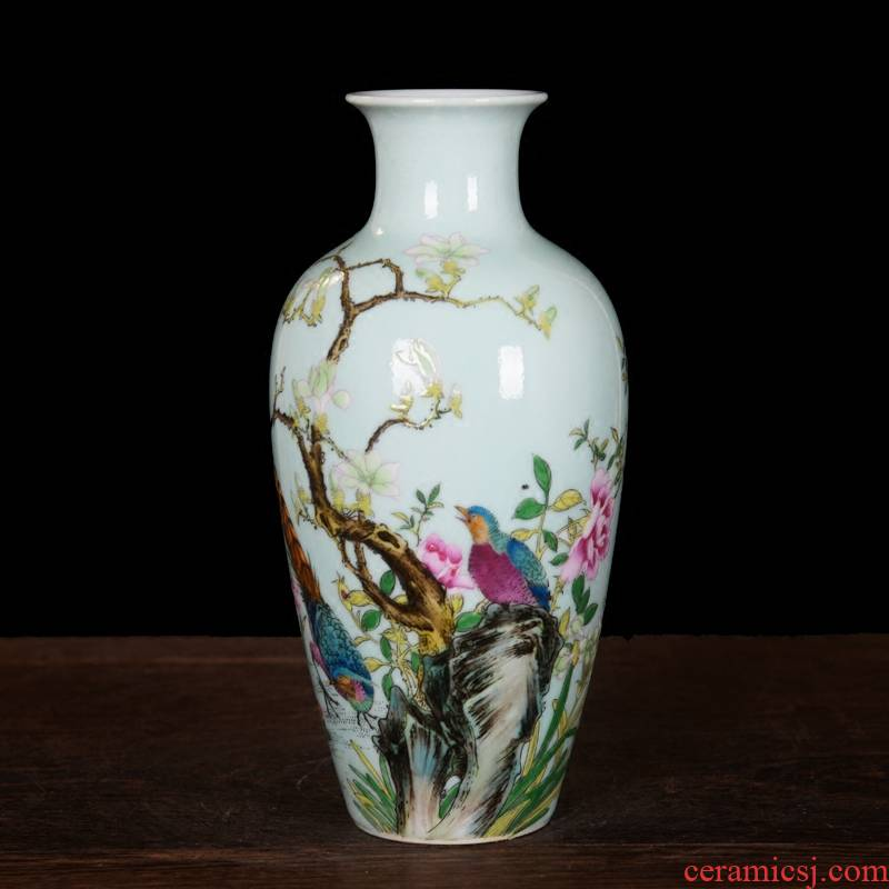 Modern fashion of jingdezhen ceramics powder enamel vase home furnishing articles sitting room decorations arts and crafts