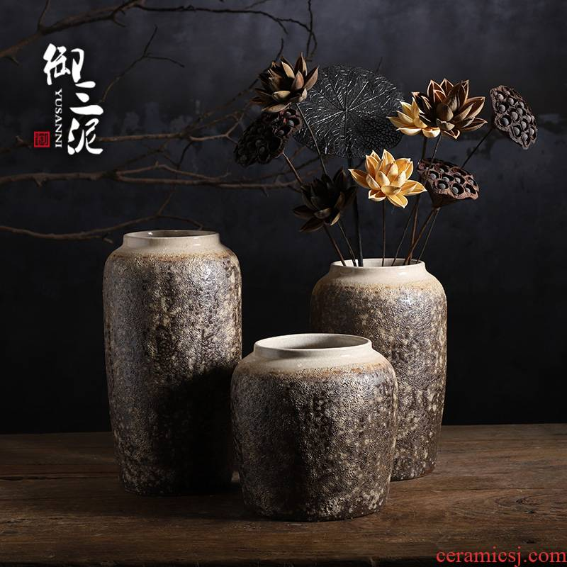 Vase furnishing articles sitting room dry flower hydroponic flower implement creative flower arranging flowers jingdezhen Chinese ceramic Vase restoring ancient ways