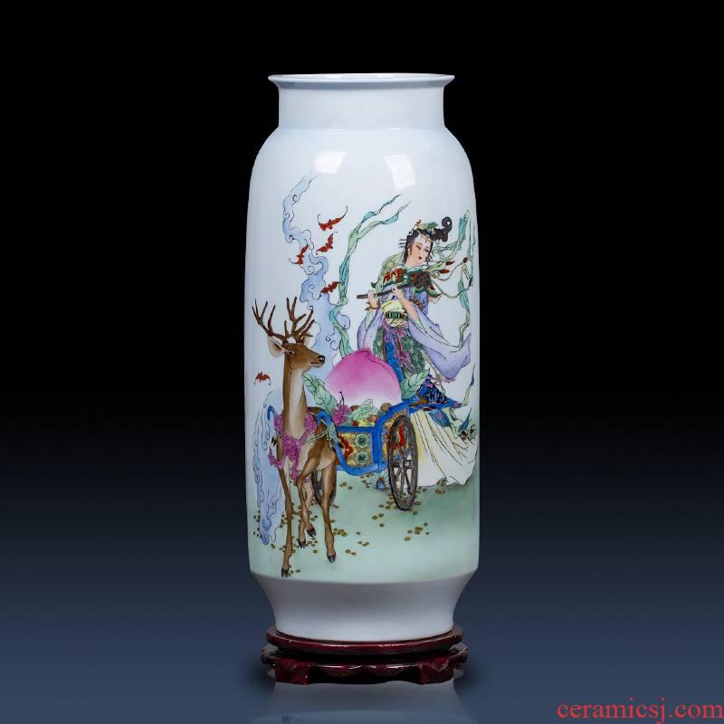 Jingdezhen Chinese vase furnishing articles hand - made mago offer longevity figure vase gift birthday vase sitting room porch place