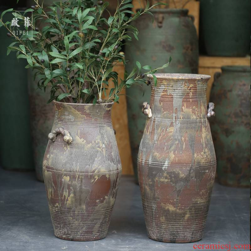Jingdezhen ceramics raw clay ground sitting room vase courtyard study receptacle furnishing articles alien crafts ornament