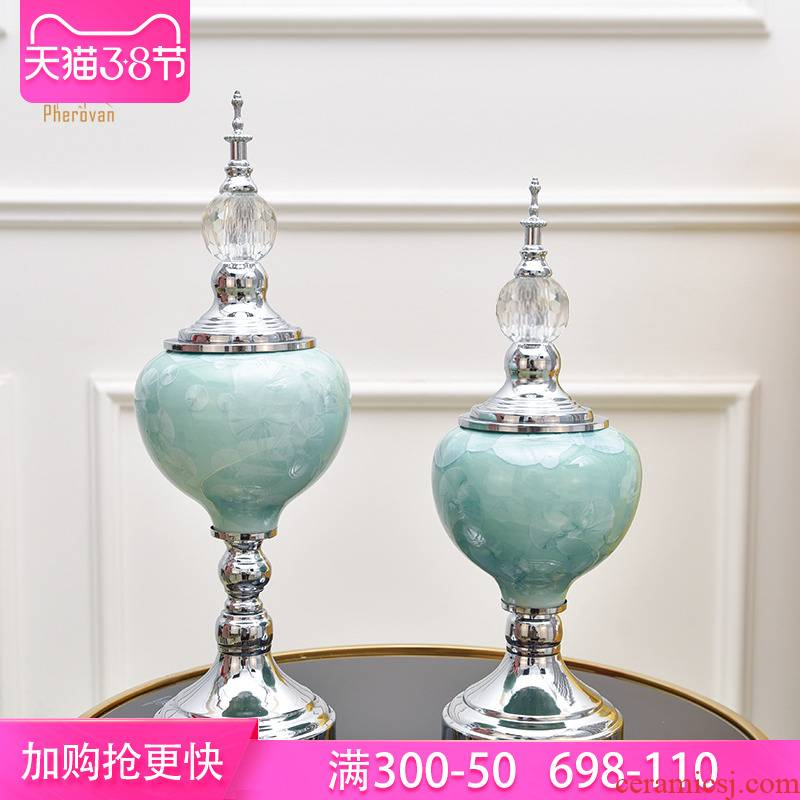 European wine table decorations TV ark, furnishing articles household act the role ofing is tasted, the sitting room porch key-2 luxury decoration porcelain vase