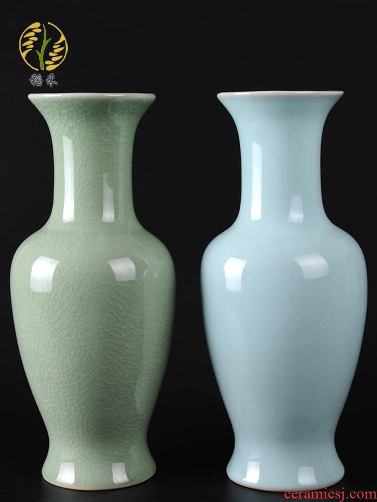 Archaize your up handicraft ru porcelain vase furnishing articles ceramic flower arranging flowers, Chinese wind restoring ancient ways is contracted sitting room adornment