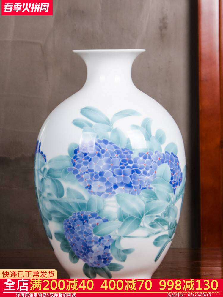 Famous master of jingdezhen ceramics, vases, flower arranging Chinese style is I and contracted household wine sitting room adornment is placed
