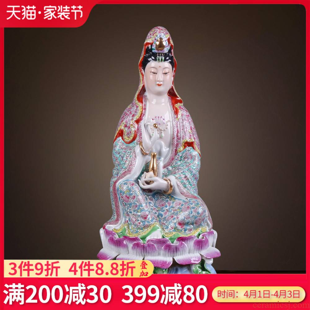 Jingdezhen ceramics craft its porcelain goddess of mercy protect peaceful Chinese style household, sitting room porch handicraft furnishing articles