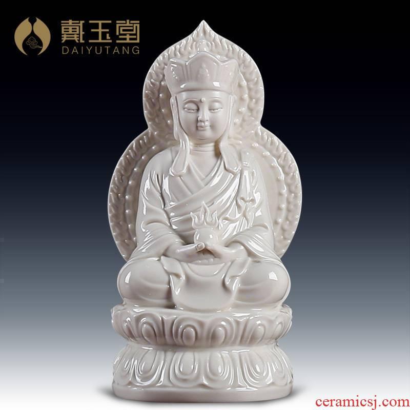 Yutang dai dehua porcelain ceramic figure of Buddha home furnishing articles/7 inch screen D21-07 e earth treasure bodhisattva