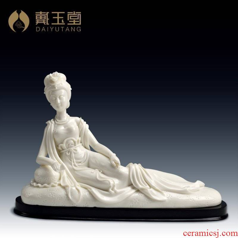 Yutang dai Lin Luyang works of arts and crafts master of China white porcelain furnishing articles province/drunken beauty D01-006