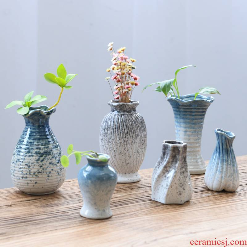 Move contracted white vase household ceramics handicraft decorative dried flower vase all over the sky star, no Kong Hua hydroponic device
