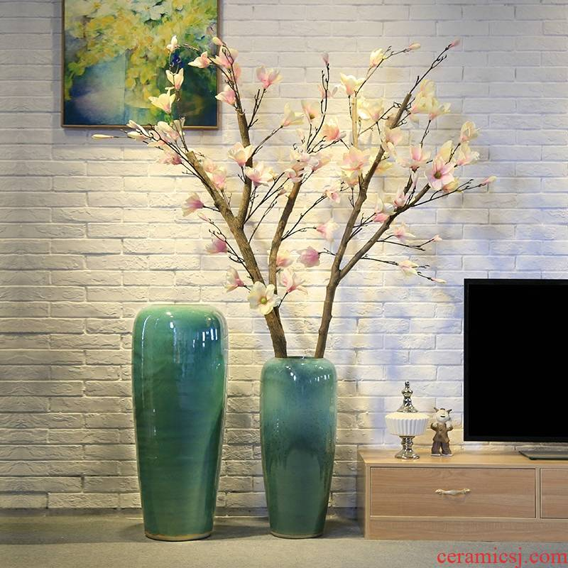 New Chinese style hotel big vase club sitting room adornment landing simulation tree big ceramics flower flower implement the entity shop