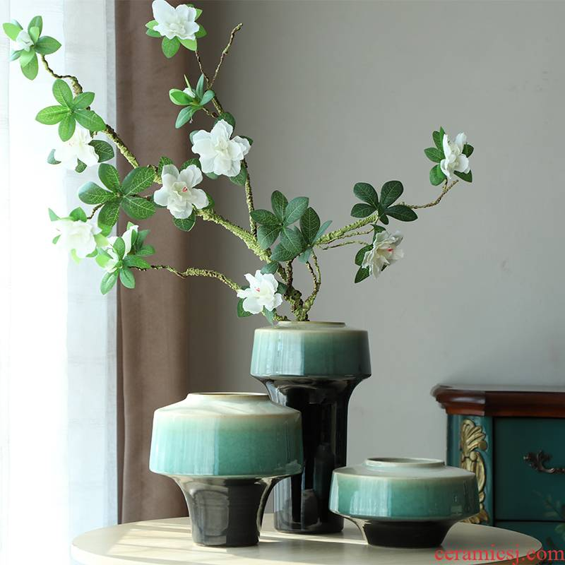 I and contracted sitting room creative flower arranging furnishing articles home decoration ceramic hydroponic dried flower vase floral arrangements