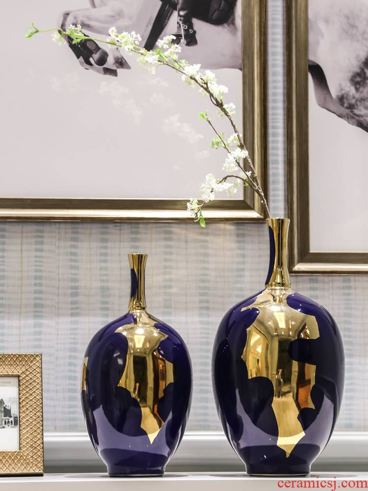 Light key-2 luxury ceramic vase mesa place I and contracted sitting room adornment Nordic table creative flower vase