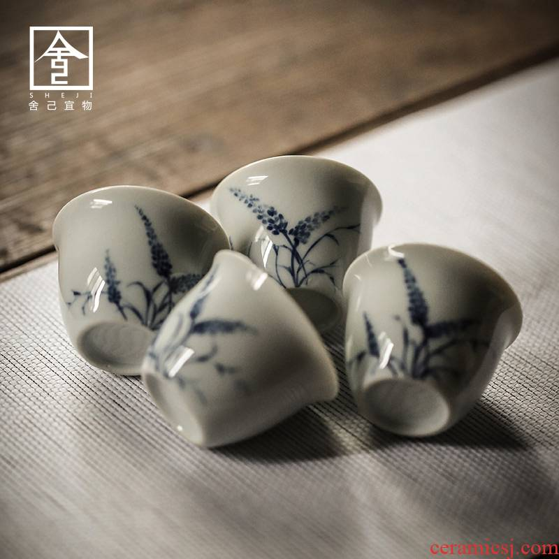 Japanese style restoring ancient ways, small teacups hand - made ceramic sample tea cup with a cup of tea cup cup tea cup ceramics