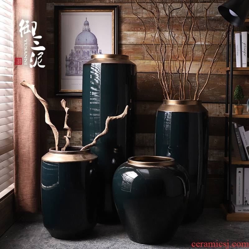 The Big vase furnishing articles furnishing articles sitting room ground European new Chinese vases, flower arranging modern simplicity of jingdezhen ceramics
