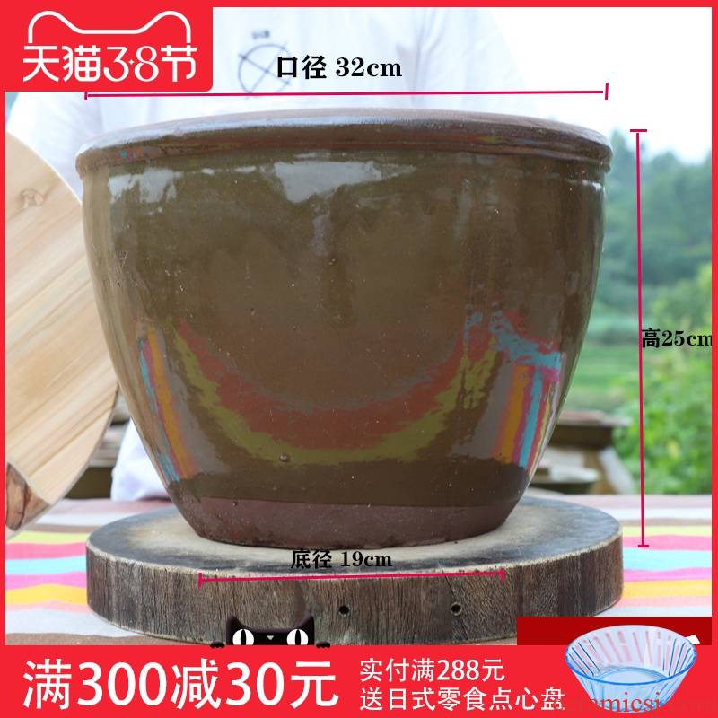 Ceramic barrel rice bucket home old rice insect moisture - proof seal storage grain storage tank douban JiangGang oil cylinder