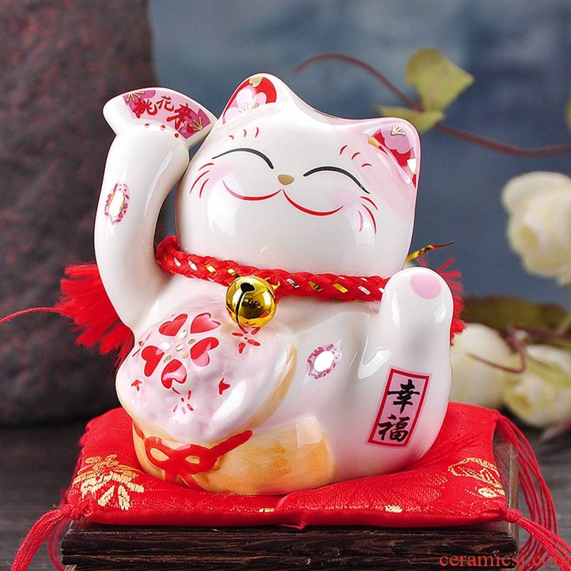 Plutus cat furnishing articles Japan ceramic saving money piggy bank mini car desk act the role ofing is tasted Chinese valentine 's day gift