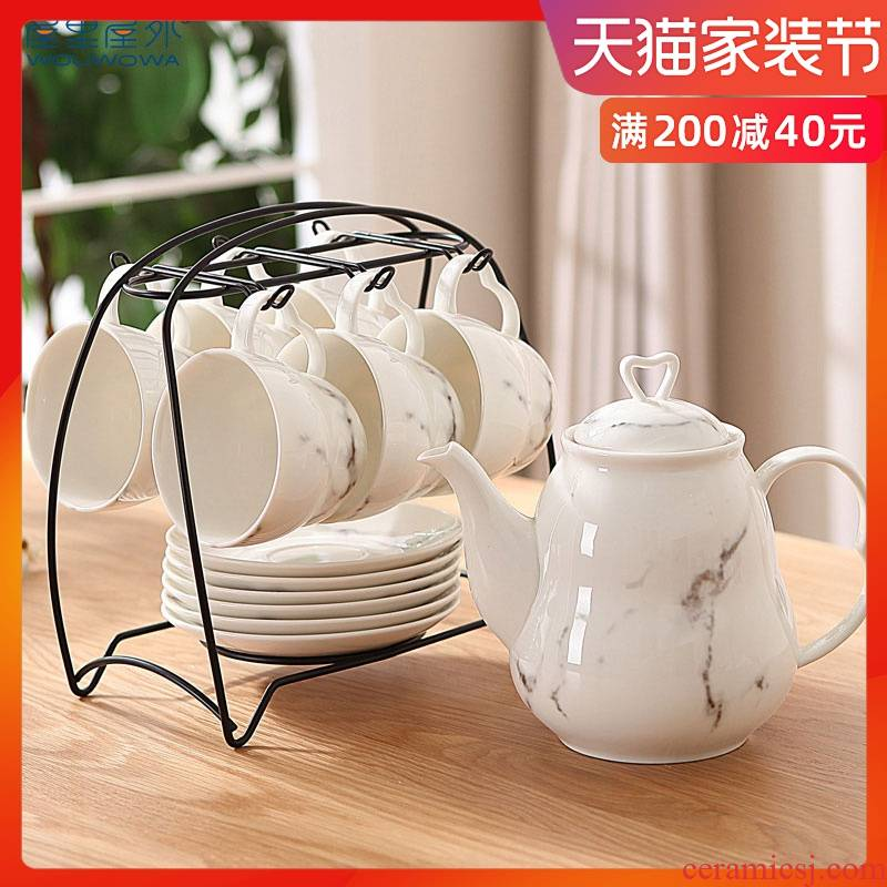 Scented tea tea set ceramic water with a cup of tea teapot teacup with crossover vehicle home coffee cup set