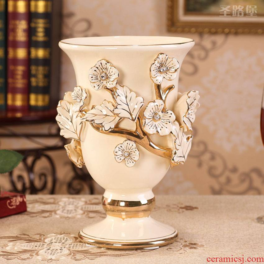 Fort SAN road sitting room vase furnishing articles furnishing articles European ceramic vase household act the role ofing is tasted China TV ark, arts and crafts