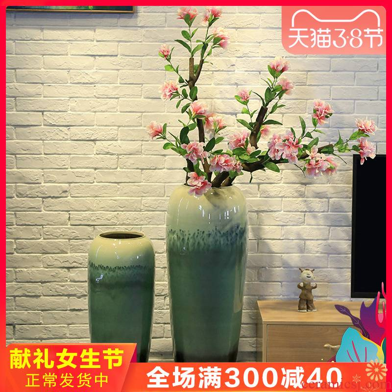 Ceramic up large vase landing simulation between example azalea flower restaurant decorative flower implement the sitting room is a large flower receptacle