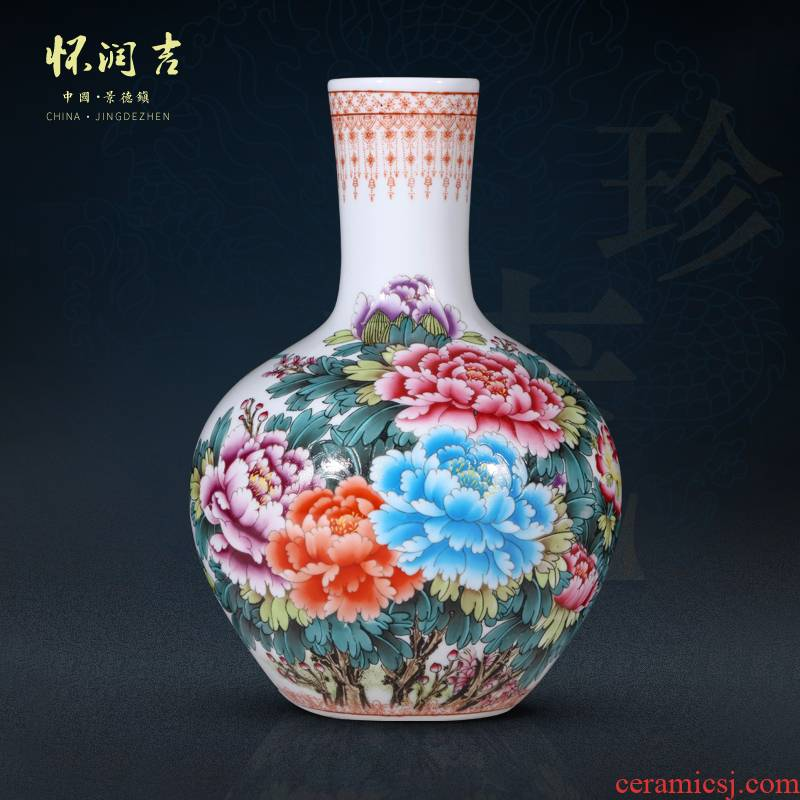 Jingdezhen ceramics craft blooming flowers, flower vase vase of porcelain of new Chinese style living room home furnishing articles