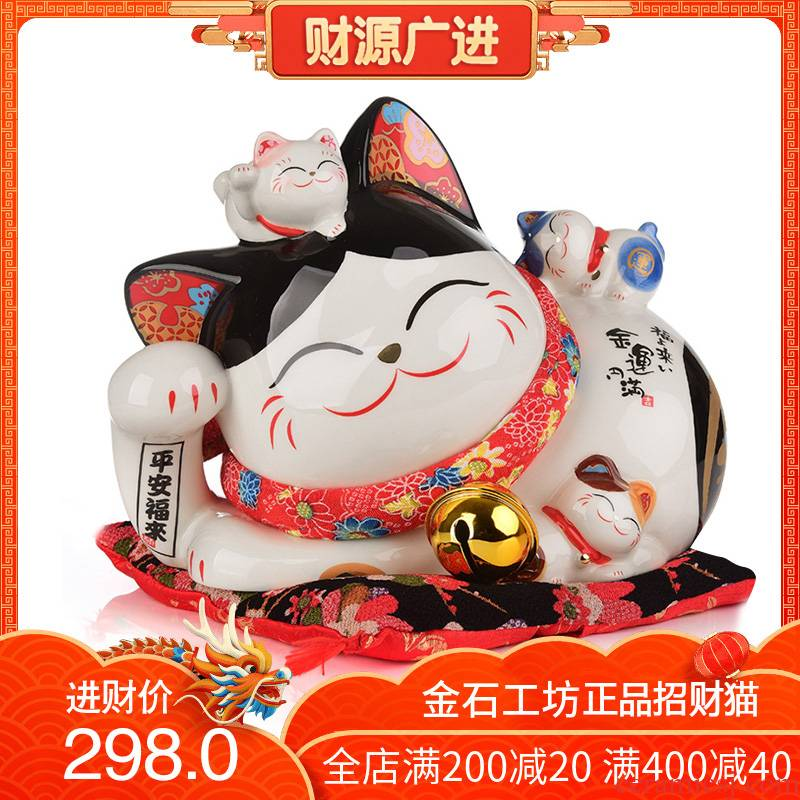 Stone, the original plutus cat large ceramic piggy bank the opened a housewarming gift sitting room adornment new creative furnishing articles