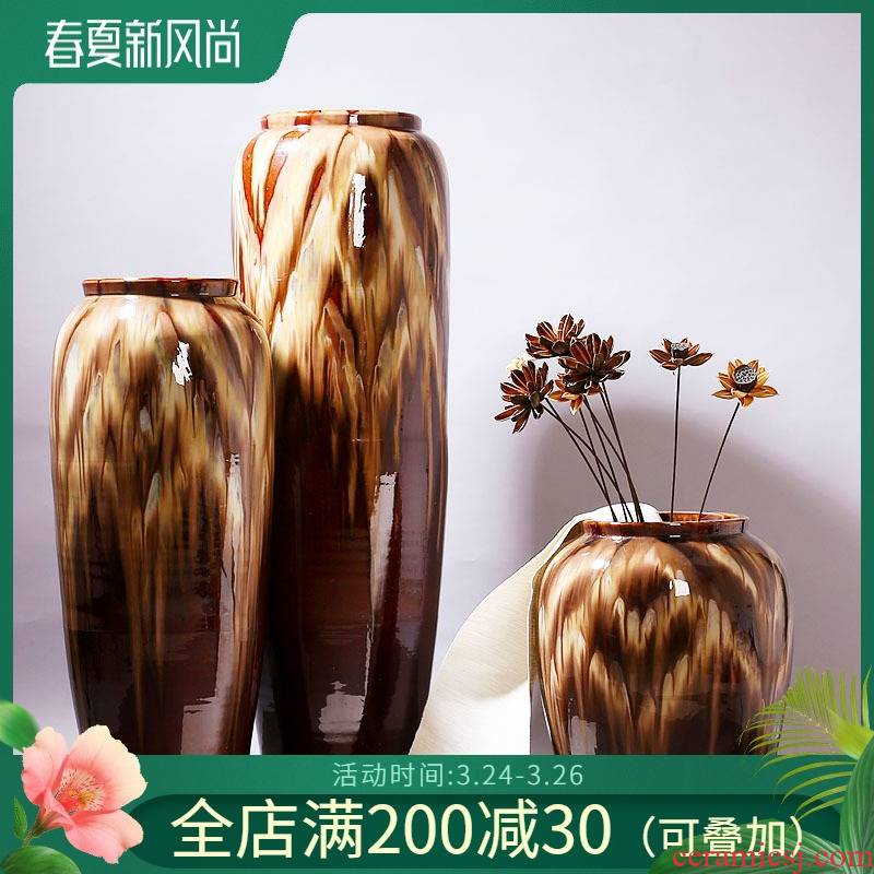 Jingdezhen ceramic vase is suing the theme restaurants cafes the opened flower implement furnishing articles flower decoration housewarming gift