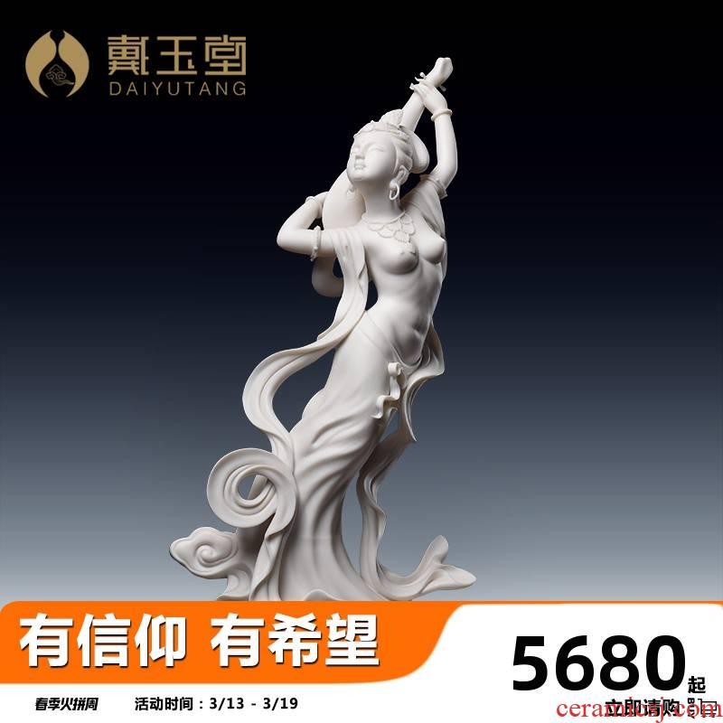Yutang dai ceramic dunhuang flying fairy furnishing articles its crafts decoration gifts Su Xianzhong auspicious pipa