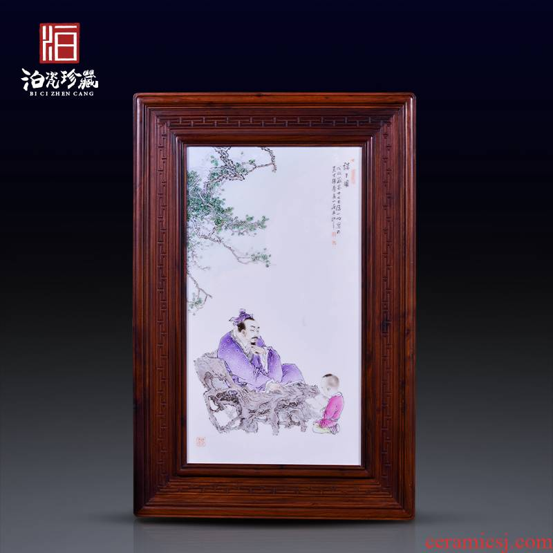 Jingdezhen ceramics hand - drawn characters famille rose decoration painting dining - room wall of sitting room sofa background wall study