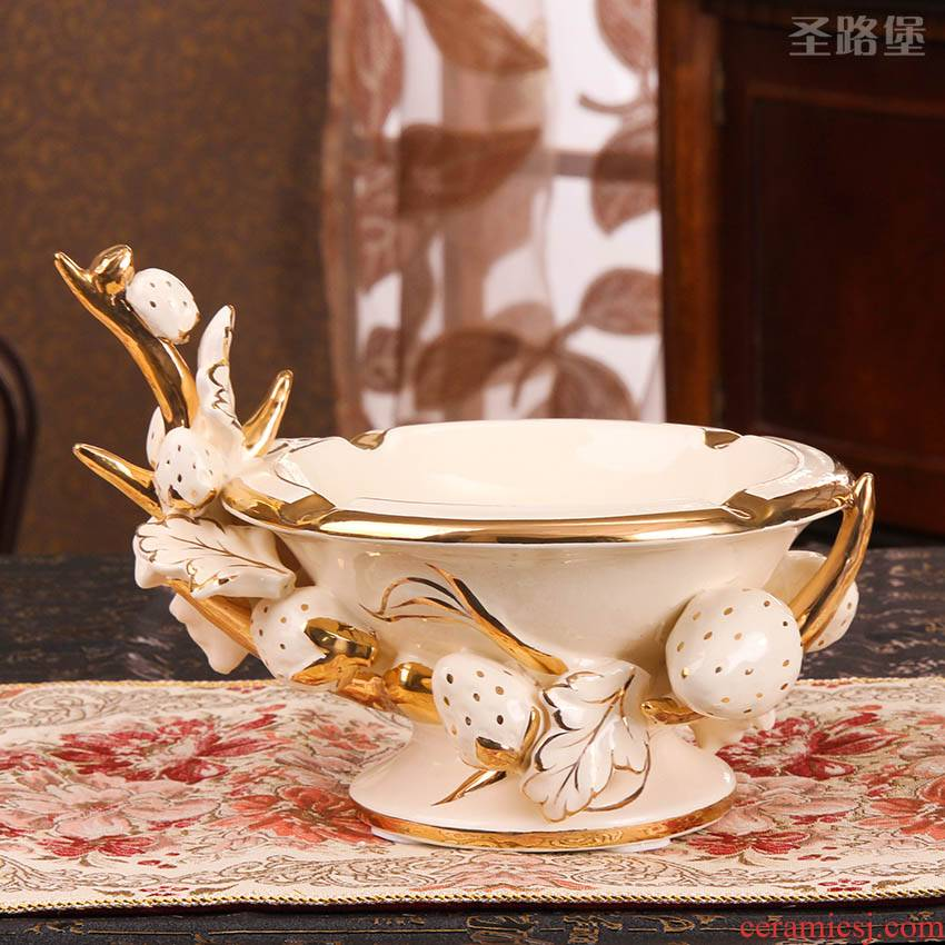 Fort SAN road ideas ceramic ashtray home decoration decoration is an ashtray wedding housewarming gift bag in the mail
