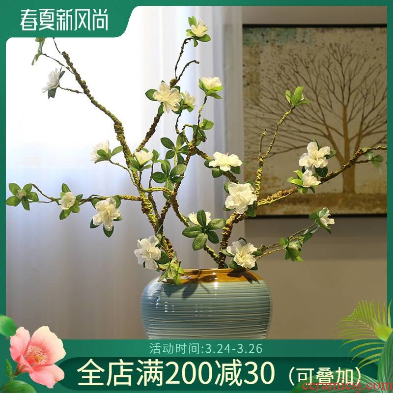 Jingdezhen ceramic mesa of new Chinese style table vase floral outraged TV ark, porch decoration flower tea table decoration