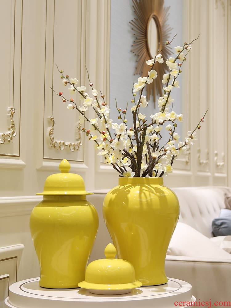 New Chinese style general as cans ceramic vase sitting room porch restaurant bedroom adornment simulation flower decoration furnishing articles