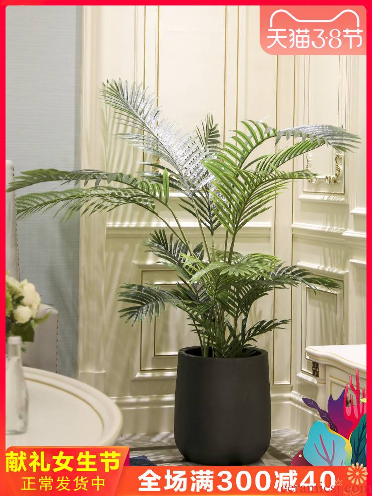 Nordic ceramic landing place to live in the sitting room the bedroom of false green plant decoration decoration artificial flowers, potted plant simulation
