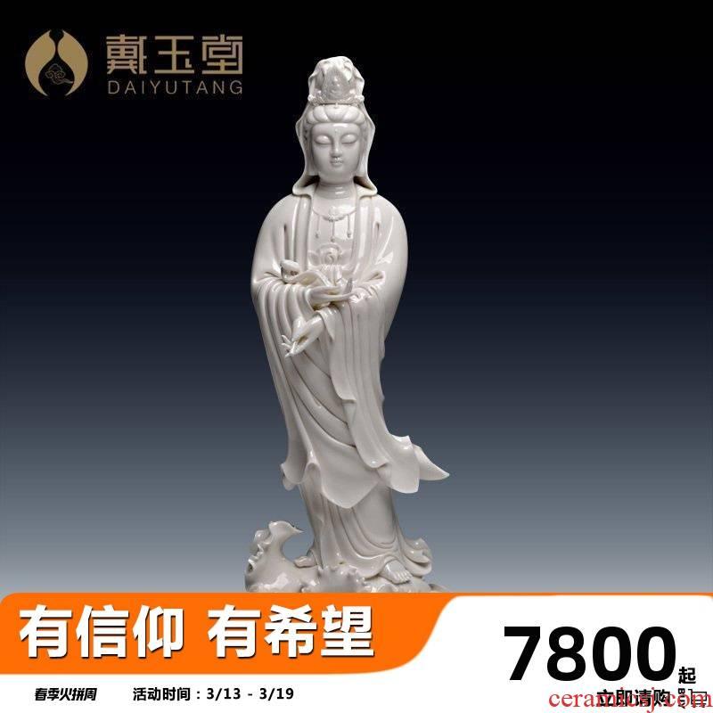 Yutang dai dehua porcelain its handicraft avalokitesvara furnishing articles/vertical load flexibly guanyin D34-36