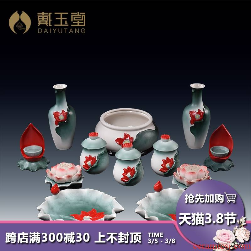 Yutang dai for Buddha Buddha with a suit for ceramic based lotus lamp Buddha GongDeng cup GongDeng before Buddha Buddha light