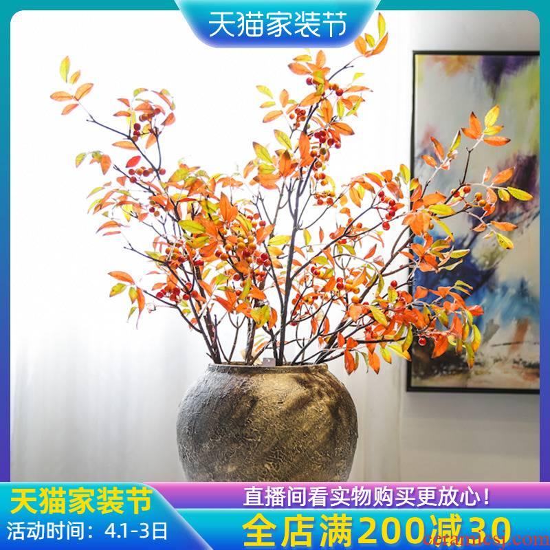 Jingdezhen ceramic coarse pottery dated vase decoration decoration industry wind flower flower implement simulation flower, flower art