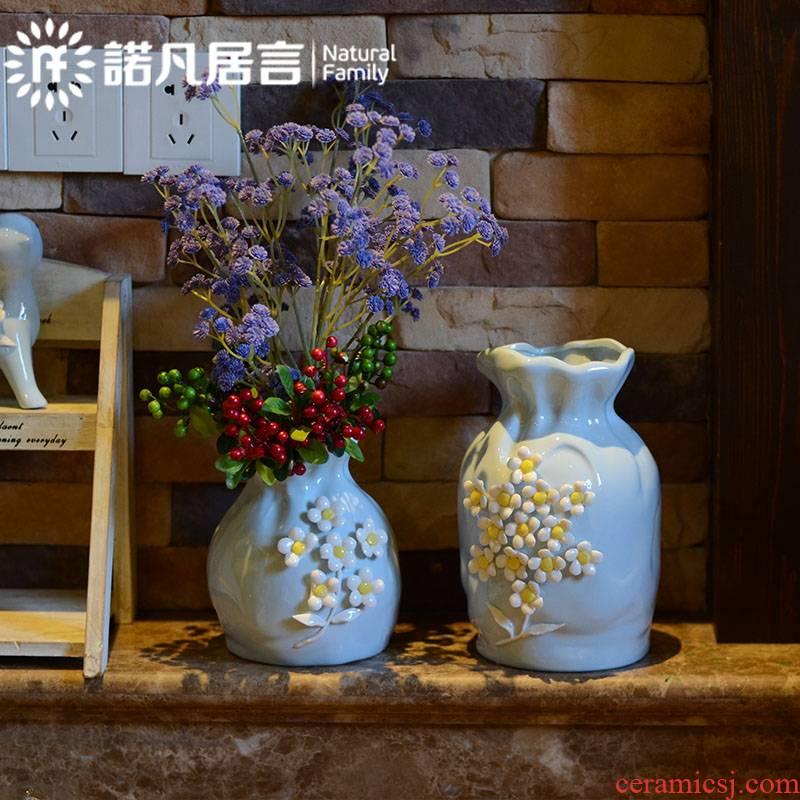 Mesa ceramic vase furnishing articles European ikebana sitting room decoration ideas decorated hotel villa rural dry flower suit