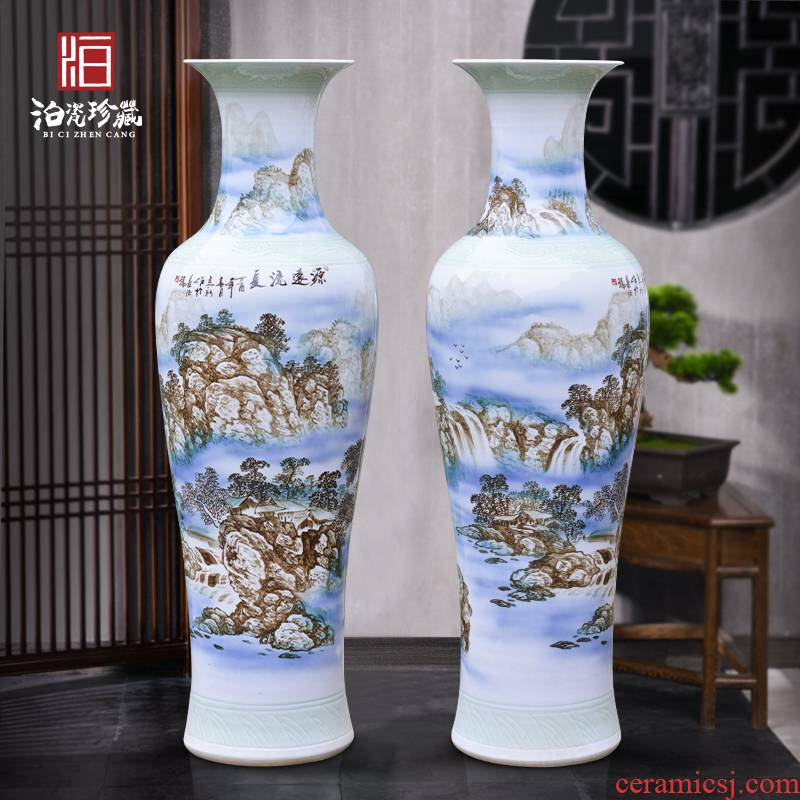 Jingdezhen ceramics has a long history of large vases, new Chinese style villa living room hotel opening furnishing articles