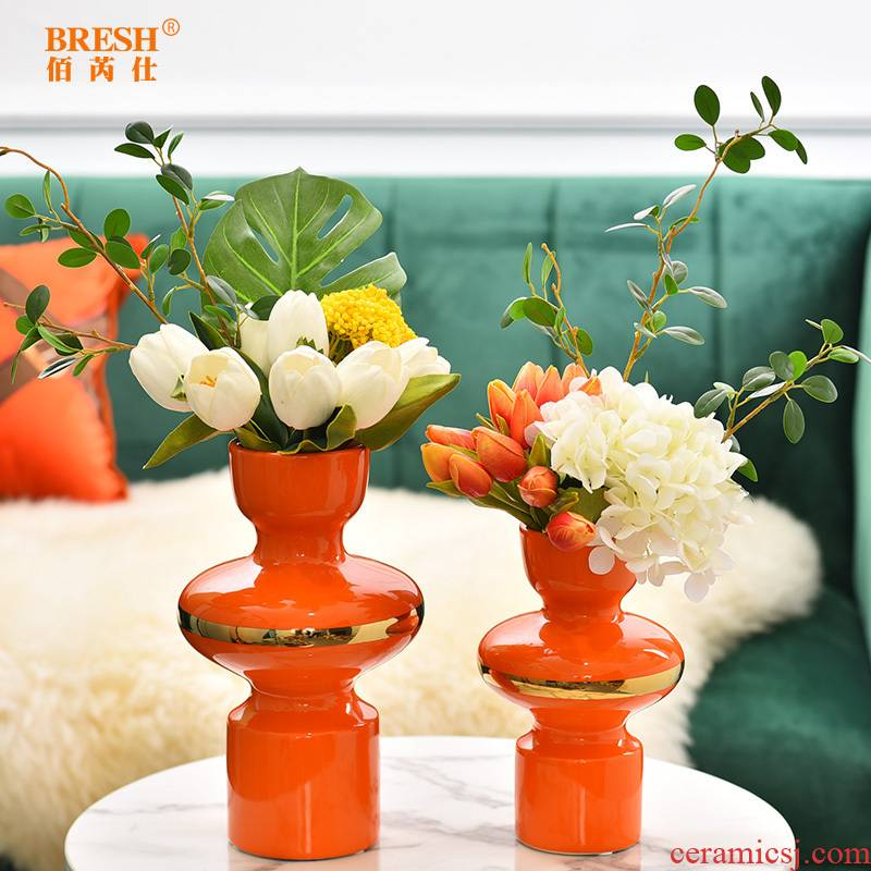 Light much creative modern ceramic vases, flower arranging I and contracted sitting room porch TV ark, furnishing articles H1002 tea table