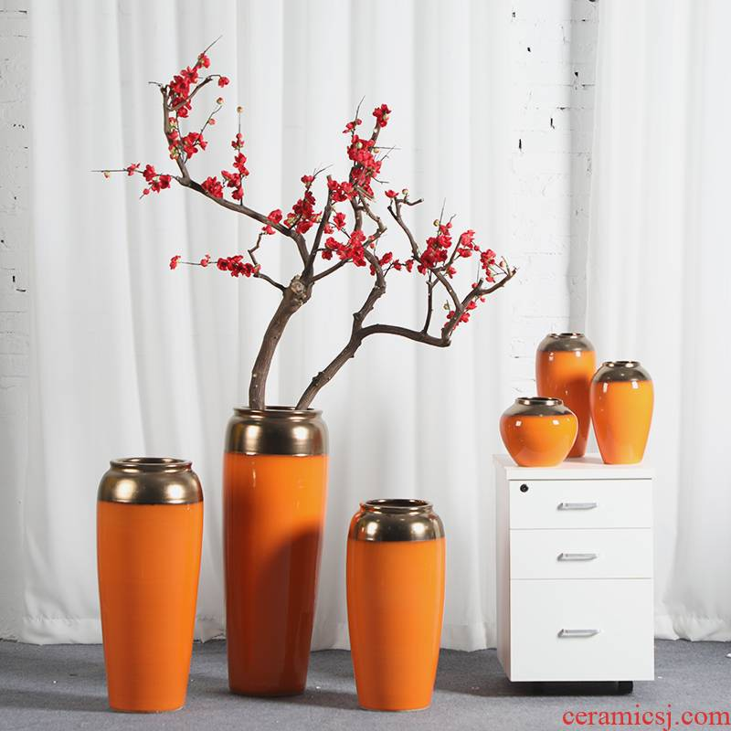 Modern American jingdezhen ceramic vase Jane furnishing articles dried flower arranging flowers sitting room decorate floor decoration household act the role ofing is tasted