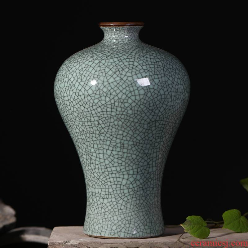 Archaize of jingdezhen ceramics up open piece of modern home decoration flower vase sitting room place TV ark