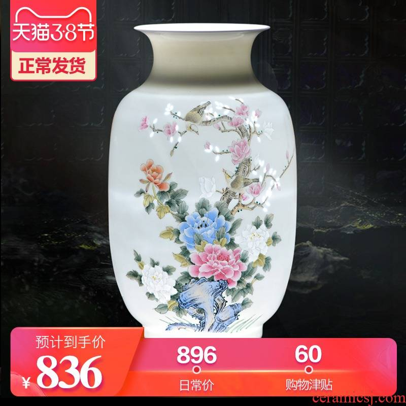Jingdezhen ceramics hand - made dried flower flower vase Chinese modern bedroom sitting room adornment is placed a wedding gift