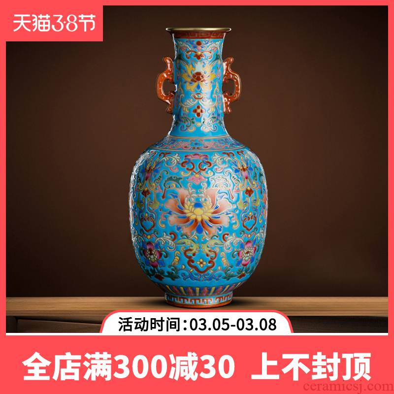 Better sealed up with jingdezhen ceramic powder enamel vase hand - made antique vase of porcelain of new Chinese style furnishing articles have the sitting room of porcelain
