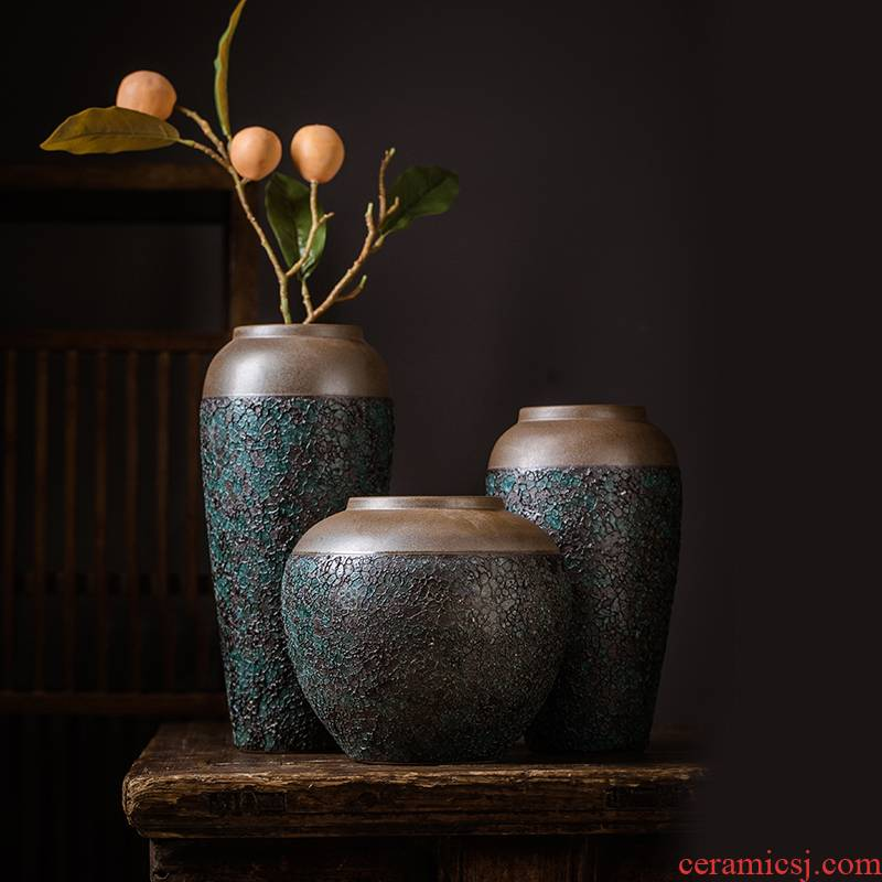 Jingdezhen ceramic vase furnishing articles furnishing articles at home in the Nordic dried flower adornment small place, a living room decoration in the home