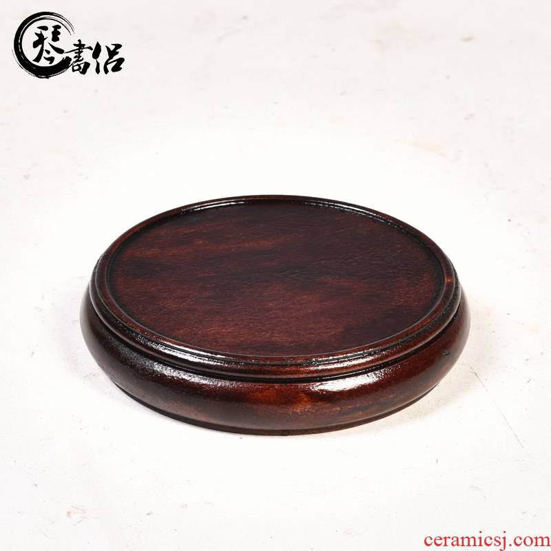 Monolith, round vase base solid wood round tea sets are it base stone base carved wooden base frame