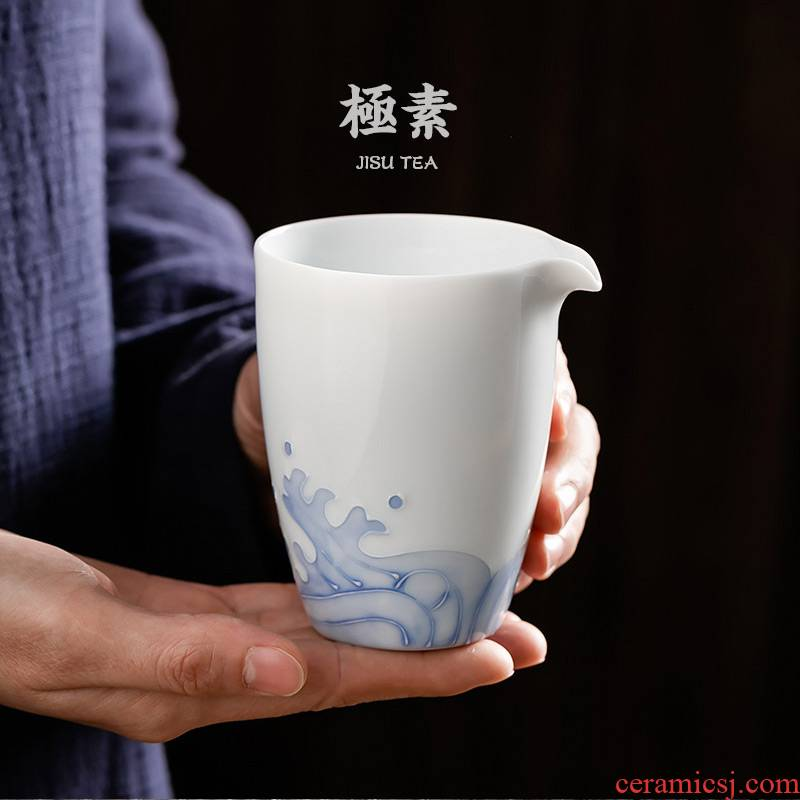 Pole element | a field'm household kung fu tea set points ceramic cups of tea sea fair keller cup points tea is big